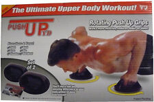 Push Up Pro Gym Workout Chest Abs Arms Press Rotating Grips Excercise Upper Body