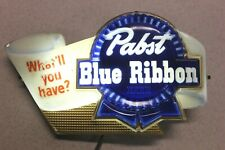 "Pabst Blue Ribbon Lighted Beer Sign ""What'll You Have� - Working Condition"