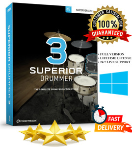 Toontrack Superior Drummer 3 | Includes More Than 500GB Libraries | For Windows
