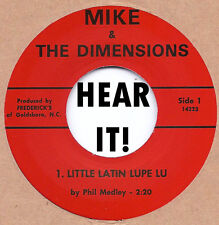 60's GARAGE PUNK MIKE & THE DIMENSIONS - Little Latin Lupe Lu/Why