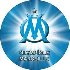 Olympique Marseille Décoration  Gateau Disque Azyme Comestible  20cm Foot