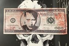 Marilyn Manson Dollar Thrown By Him At Concert With Slipknot Tour Rare #2A