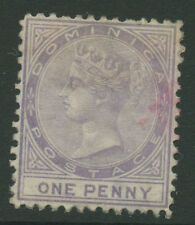 Dominica SG1 1874 1d Used P12.5