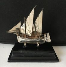 Stunning Vintage Solid Silver 925 Model Maltese Ship Boat Sculpture Art