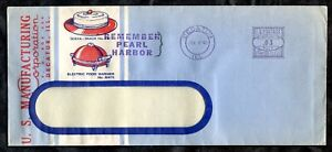 ck034 - USA DECATUR ILL 1942 Advertising Cover. REMEMBER PEARL HARBOR Slogan