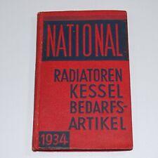 NATIONAL . Radiatoren . Kessel . Bedarfsartikel Katalog 1934 Ideal Standard