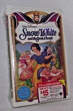 Snow White Seven 7 Dwarfs Disney First Time Clam Shell Sealed New Video Tape VHS
