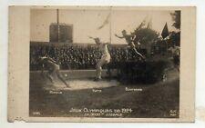 1924 RPPC STEEPLECHASE Ritola- Gold Katz Bontemps Olympic Postcard Paris AN 395
