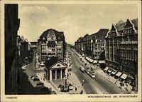 HAMBURG ~1930/40 Tram Strassenbahn passiert Mönckebergstrasse u. Spitalerstrasse