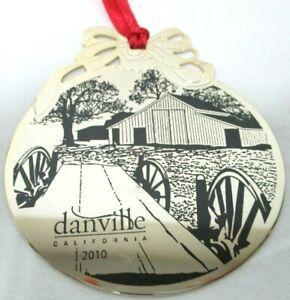Danville California gold black metal Ornament Wagon Farmhouse Trees NEW