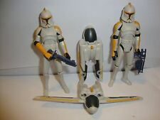 Star Wars Action Figure Clone Wars Jetpack Trooper Lot x2 Jet Pack 327th? 212th?