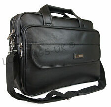 Mens Womens Business Briefcase Laptop Work Carry Case Holdall Bag Black