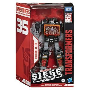Transformers War for Cybertron 35th Anniversary WFC-S63 Soundblaster SG-EX NEW