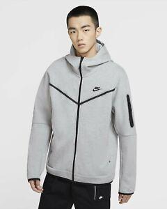 Nike Sportswear Tech Fleece Men's Full-Zip Hoodie Grey CU4489-063 Size L NWT