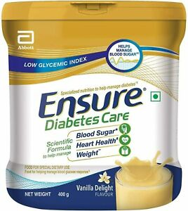 2 Cans of Ensure Glucerna SR 400gm / 14.11 oz vanilla flavor