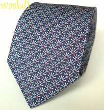 SALVATORE FERRAGAMO navy with red white blue ANCHORS silk MENS tie NWT AuthentIC