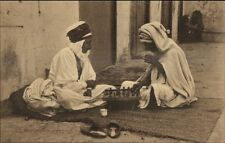 North Africa Muslim Arab Men Playing Game Chess? Ethnography Postcard