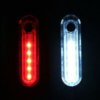 LED USB wiederaufladbar Fahrrad Rücklicht Fahrradlampe Warnlicht  220mah Akku