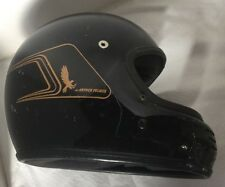 Vintage Arthur Fulmer AF-50 Full Face Motorcycle Helmet Black & Gold Large to XL