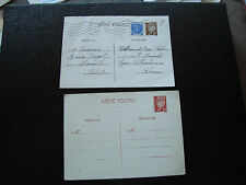 FRANCE  - 2 cartes entier (cy65) french