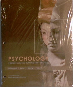Psychology: From Inquiry to Understanding EWU Edition + Access Code, Lillienfeld