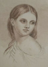 1879 - VIOLA - Female Artist Mary H. Wright - Portrait of Young Woman