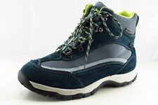L.L. Bean Boot Sz 11 M Hiking Round Toe Blue Leather Women