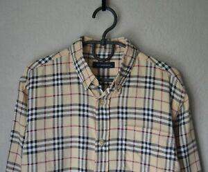 Authentic Luxury Boy's BURBERRY Beige Nova Check Cotton Shirt Size 8 Years