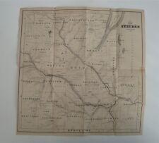 1861 Steuben County New York Map Litho Of Van Benthuysen Of Albany