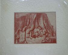"Rembrandt Print from Great Erotic Art, Olympus Soc. ""Joy in Art"" Series INV 2487"