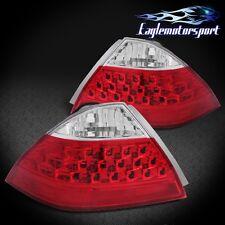 2006 2007 Honda Accord Sedan 4Dr Red Clear Rear Brake Tail lights Lamps Pair