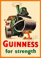 Vintage Poster GUINNESS Retro Beer Advert ART PRINT Home Bar Pub A3 A4 Strongman