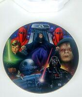 Emperor Palpatine 1998 star wars vintage Hamilton Collection plate