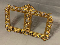 Antique Double Frame French Style Gilded Bronze Frame Acanthus  Easel Back