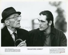 WILLIAM BURROUGHS MATT DILLON DRUGSTORE COWBOY 1989 VINTAGE PHOTO ORIGINAL #1