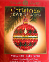 Mill Hill Cross Stitch Bead Kit Christmas 'Ruby Forest' Jewels 16-1303