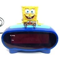 Vintage Spongebob Squarepants Digital Alarm Clock BC-SBC200 Viacom Works Great