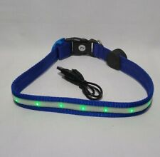 New listing Pet Supplies Dog Led Dog Collar Usb Rechargeable Blue with Lights