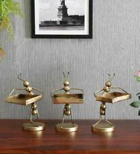 Iron ant figurine with tray handcrafted statues home table decor figure india