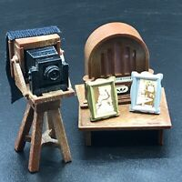 Calico Critters Sylvanian Families VINTAGE Radio and Camera Set TOMY VERY RARE