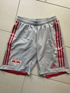 Adidas NEW YORK RED BULL MLS Soccer Shorts Mens Size S Small DU2214 fifa Grey