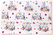 Easter Bunny Rabbits Indoor/Outdoor Placemat by Designer Cynthia Rowley New York