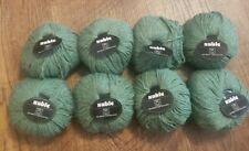"Valgaudemar ""Sable"" 70% Merino Wool 30% French Angora 8 Skeins Green 1621 Yarn"