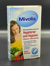 Mivolis Vegetarier und Veganer Vitamine + Mineralstoffe, 30 Stück
