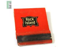Antique Rock Island Railway Red Match Book Railroad NOS
