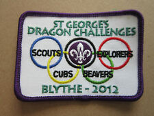 Blythe 2012 St George's Challenges Cloth Patch Badge Boy Scouts Scouting L3K C