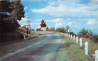 EAST WINDHAM MOHICAN TRL NEW YORK~POINT LOOKOUT TOWER~5 STATE VIEW POSTCARD 1956
