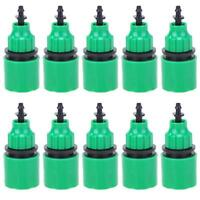 10x 47/811 Pipe Barb Quick Connector Garden Balcony Irrigated Watering Fittings