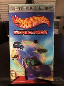Hot Wheels: World Race (VHS, 2003) CGI Movie  Mainframe RARE LENTICULAR COVER
