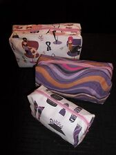 Set of 3 Fashion Girl COSMETIC Traveling Bags